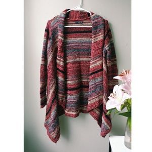 Stripped thick AE cardigan